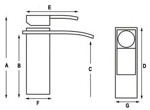 Tall Bathroom Vessel Sink Faucet Single Lever Waterfall: HnFShop Chrome Regular Waterfall Spout Single Handle